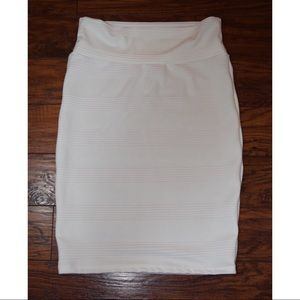 Lularoe White Cassie Skirt - Size Medium
